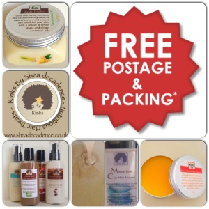 Free Post and packing